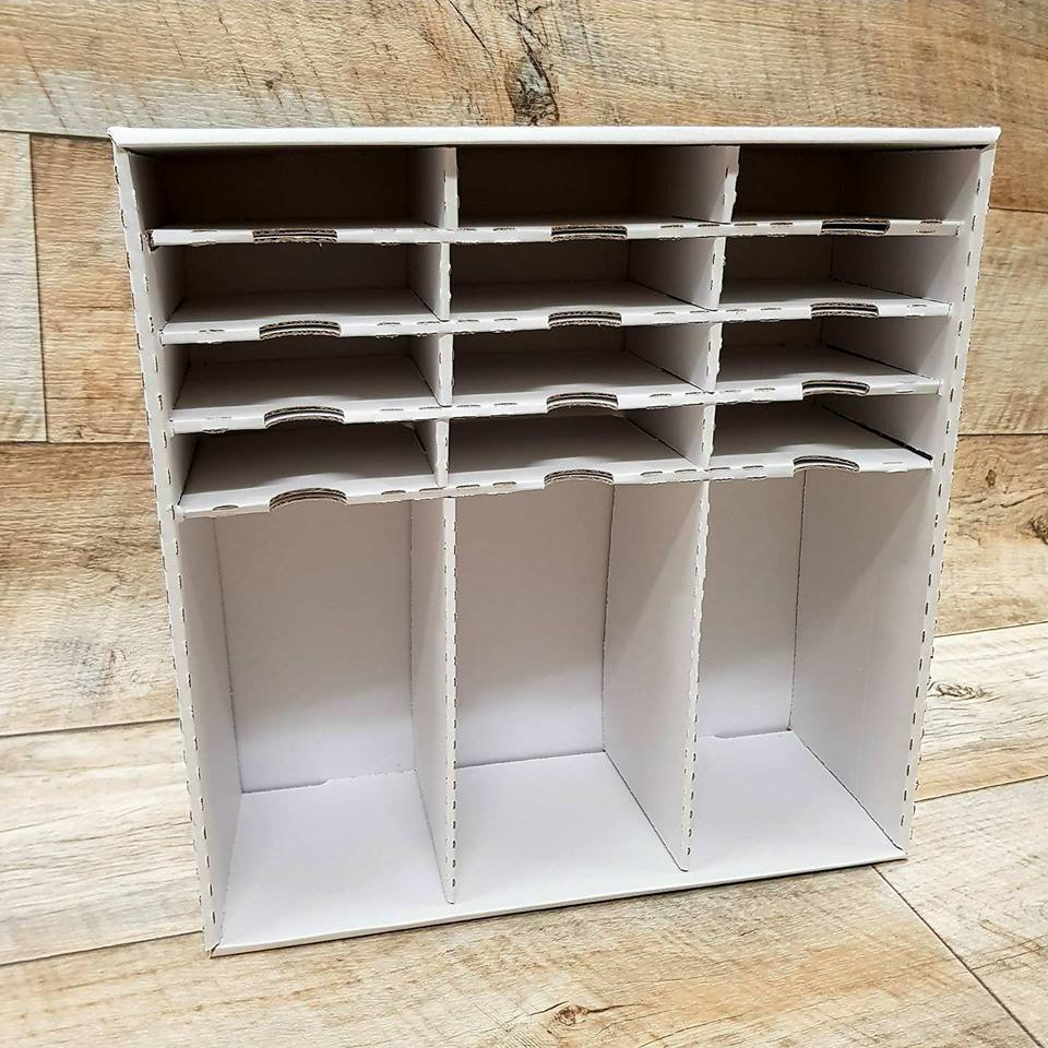 regal f r stempel und stempelkissen idee manufaktur. Black Bedroom Furniture Sets. Home Design Ideas